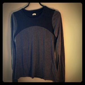 Edgy grey and black long sleeve top